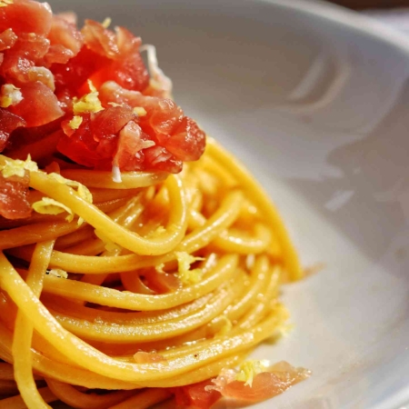 Spaghetti con Fondo di Vitello